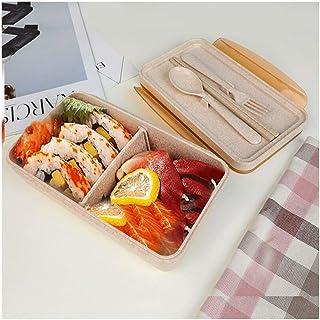 Cajas Bento Junta tabique móvil aislados Niños caja de almuerzo del diseño de la cerradura de gran capacidad almuerzo recipientes estancos Segura alimentos orgánicos Caja de almacenamiento interior y