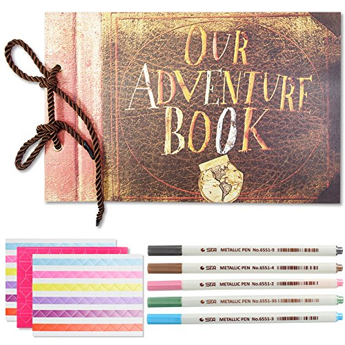 Katia DIY Our Adventure Book Photo Album Accessories for Polaroid Fujifilm Instax Mini 11/8/ 9/ 7s/ 90 Instant Film Camera with Stickers/Pen