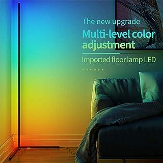 Yunjie Lámpara de pie LED de Esquina Modernas Sala de Estar Iluminación Decorativa Brillo Ajustable para Dormitorio Estudio Oficin