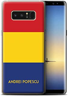 Personalized Custom National Nation Flag Gel/TPU Case for Samsung Galaxy Note 8/N950 / Romania/Romanian Design/Initial/Name/Text DIY Cover