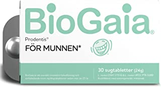 BioGaia Prodentis Probiotiska Sugtabletter För Tand-Och Munhälsa, Levande Mjölksyrabakterier Med 200 Miljoner Levande Bakt...