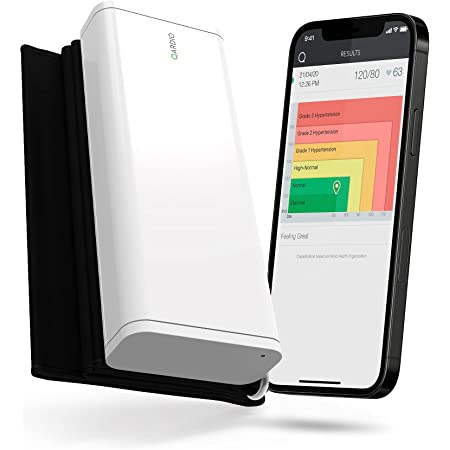 QardioArm Wireless Blood Pressure Monitor: Easy to Use Smart Upper Bluetooth Arm Cuff. App-enabled for iOS, Android, Apple Watch. FSA/HSA eligible.