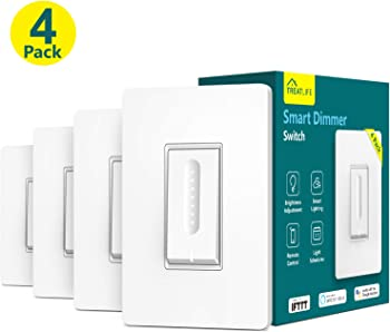 4-Pack Treatlife WiFi Smart Dimmer Light Switch for Dimmable LED Bulbs
