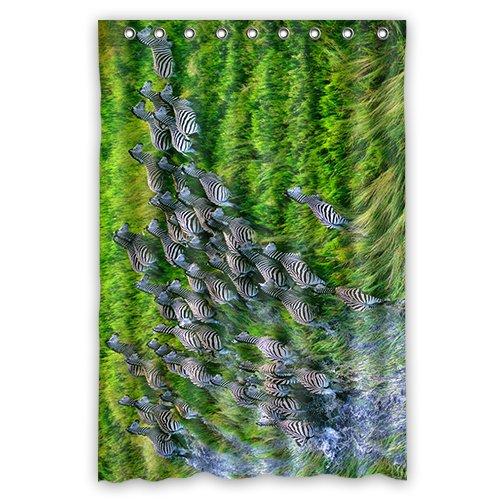 Doubee Custom Personalisiert Zebra Wasserdichtes Duschvorhang Shower Curtain 48
