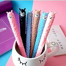 WIN-MARKET Animal Colourful llama Alpaca Sheep Gel Ink Pen Cute Kawaii Black Writing Pens Ballpoint Black Ink Gel Pen Party Gift Gel Ink Pens Funny School Stationery Office Supplies(8PCS)