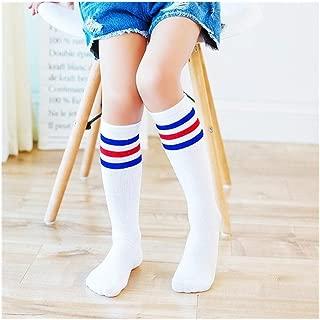 Filles Genou Coton Chaussettes Pour Enfants Uni École Décontracté au-dessus Du Genou Chaussettes