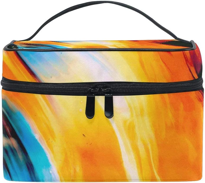 Trust Abstract Colorful Pattern Makeup Train Case Organizer Weekly update Box