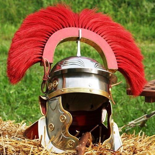 NauticalMart Roman Imperial Centurion Columbus Finally popular brand Mall with Helmet Red Plume