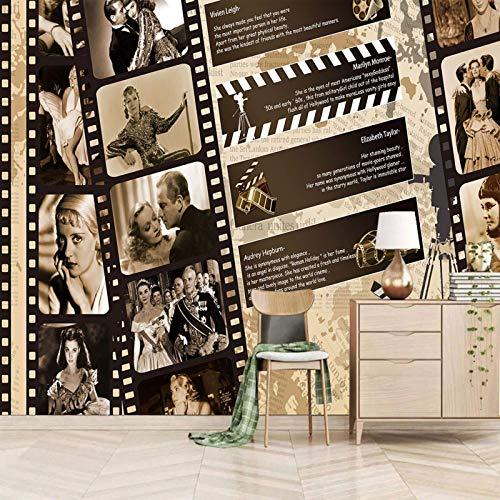 Msrahves Fotomural TV Cine Personajes Películas Retro Fotomural TV Mural papel pintado fotomurales murales pared papel para pared foto 3D mural pared decorativo Papel tapiz estéreo 3D