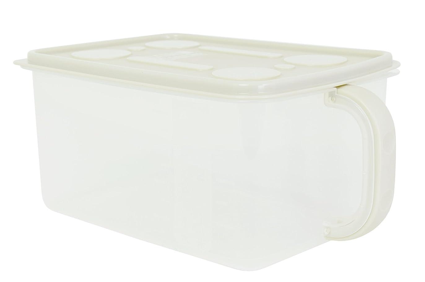 堤防役に立つすり減るサンコープラスチック キッチン収納 整理ストッカー 幅30.7×奥19.5×高13.4cm ベージュ