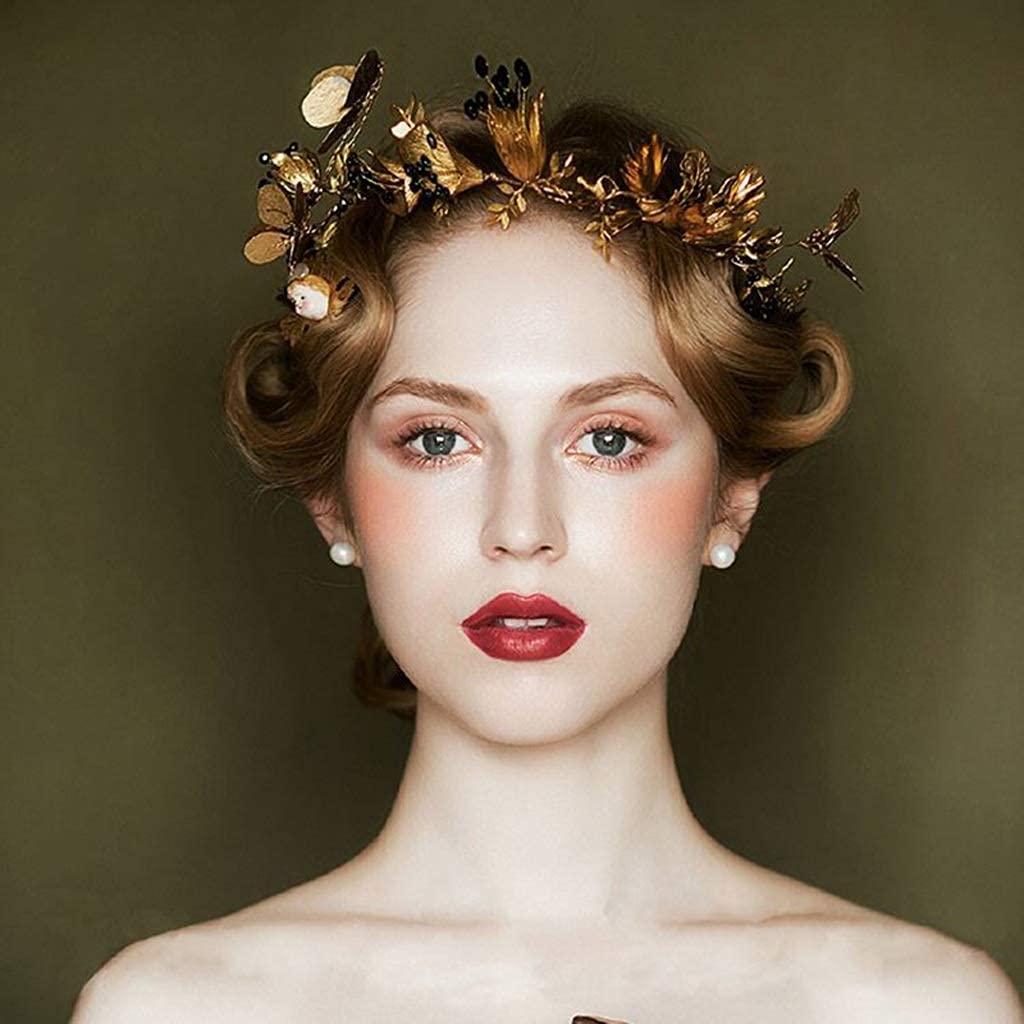 Vintage Free Sacramento Mall Shipping Cheap Bargain Gift Bridal Hairband Wedding Crown Tiara Butterfly Headb Leaf