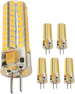 Ukey U GY6.35 LED Bulbs,5W Bi-pin Base AC/DC 12V 2700K Warm White, G6.35/GY6.35 Base JCD LED Halogen Incandescent 50W Replacement Bulb 5Pack (5),