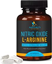 Extra Strength Nitric Oxide L-Arginine Supplement 2010mg - Citrulline Malate, Aakg, Beta Alanine - Premium Muscle Building Nitric Oxide Booster for Strength & Energy to Train Harder - 60 Capsule
