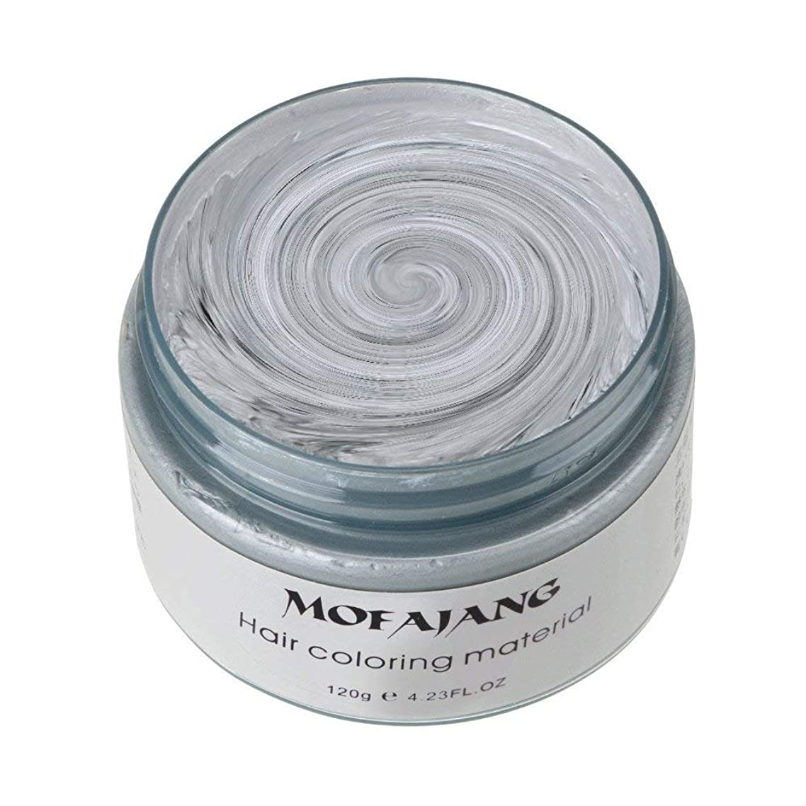 MOFAJANG Unisex Hair Wax Color Dye Styling Cream Mud, Natural Hairstyle Pomade, Washable Temporary,Party Cosplay (Ash Matte Grey)