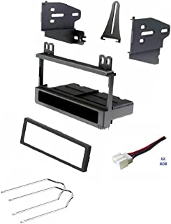 ASC Car Stereo Dash Kit, Wire Harness, and Radio Tool for Installing a Single Din Radio for some Ford Vehicles - Compatible Vehicles Listed Below,
