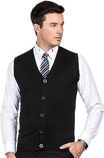 PJ PAUL JONES Men's Slim Fit V Neck Sweater Vest Knit Vest Cardigan Button Front
