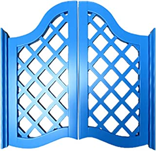GuoWei Bar Swinging Door Wooden Hinges Included Cafe Entrance Kitchen Indoor Use, Customizable (Color : Blue, Size : 90cmx90cm)