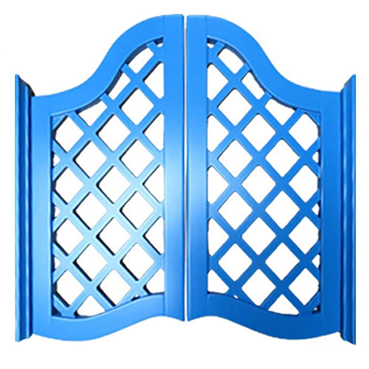 顔料クスコむちゃくちゃGuoWei バー スイングドア 木製 ヒンジ 含まれる カフェ 入り口 キッチン 屋内 つかいます、 カスタマイズ可能 (Color : Blue, Size : 90cmx90cm)