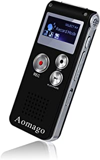 Digital Voice Recorder Voice Activated Recorder for Lectures, Meetings, Interviews Aomago 8GB Audio Recorder Mini Portable...
