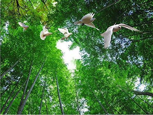 Lqwx Custom 3D Deckenbild Schönen Bambus Taube Wallpaper Decke Ktv Hotel Stereoskopischen 3D-Decke Tapeten Wandmalereien 120 Cmx 100 Cm