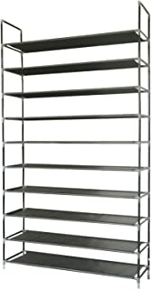 ABO Gear Shoe Rack Closets Organizer Shoe Storage for Closets,50 Pairs Stackable, Easy to Assemble, No Tools Required, Black