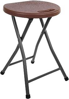 كرسي بلاستيك بهيكل معدني قابل للطي من مينترا - بني