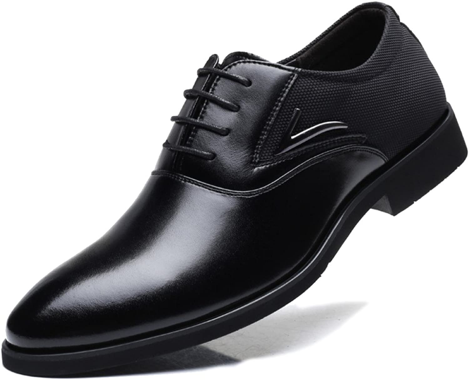 MERRYHE Mens Large Size Pointed Toe Oxford Microfiber Leather Lace Ups Formal Dress shoes Business Party Work Wedding