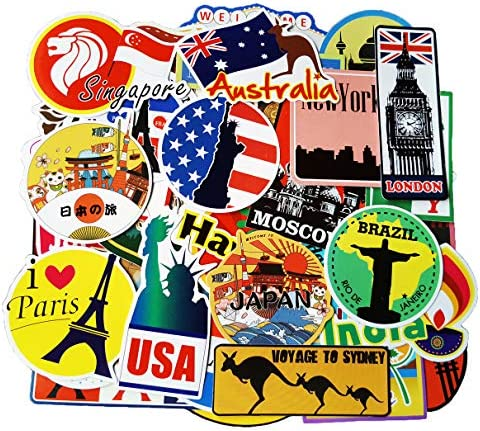 Waterproof Stickers (160pcs) Pack Rock and Roll Music Stickers Vinyl Decals for Electric Guitar Bass Drum Laptop Skateboard Motorcycle