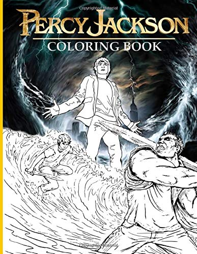 Percy Jackson Coloring Book: Adult Coloring Books For Men And Women 8.5  X 11