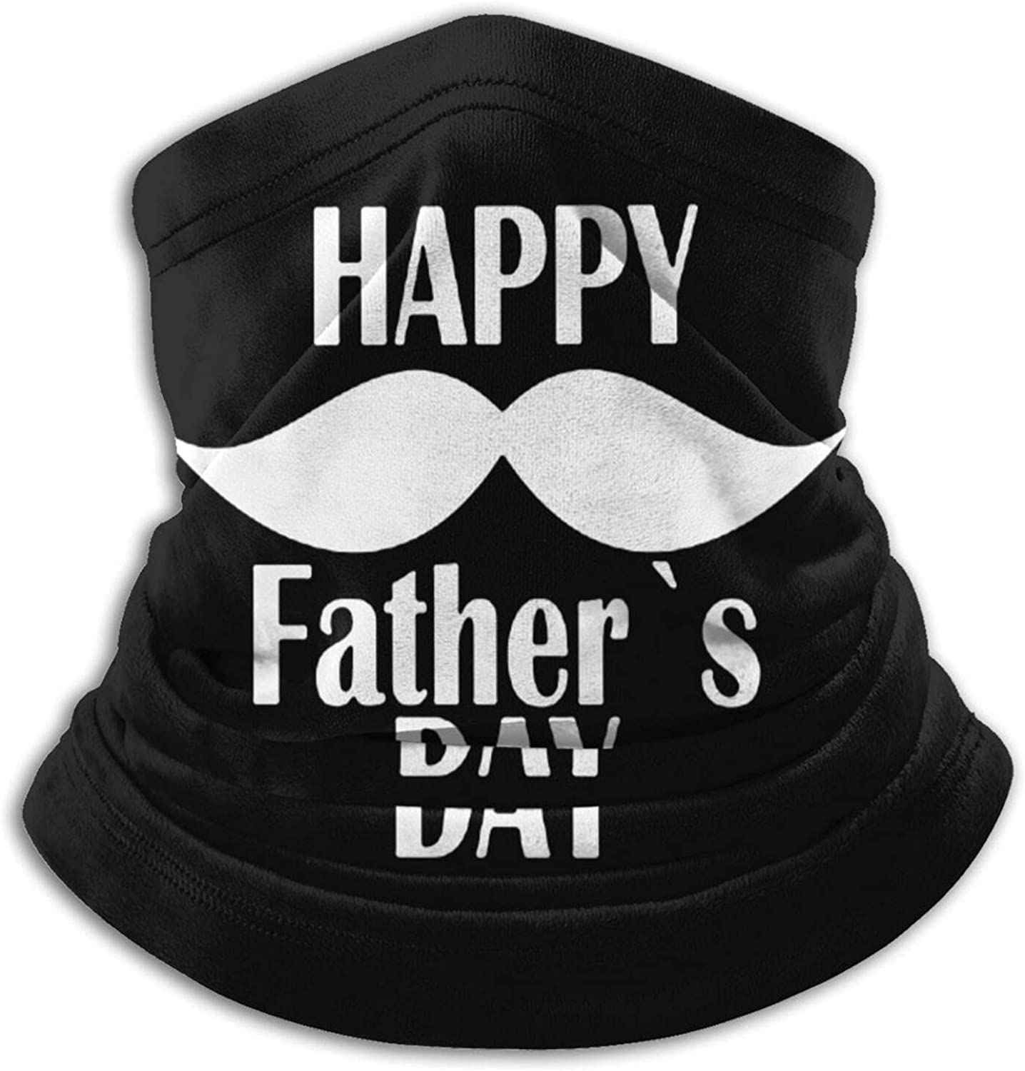 Happy father's dad day unisex winter neck gaiter face cover mask, windproof balaclava scarf for fishing, running & hiking