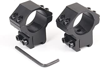 NcDe 1'' /2Pieces Dovetail RifleScope Mount Rings Medium Profile for 11mm Dovetail Rails and Scope Sight