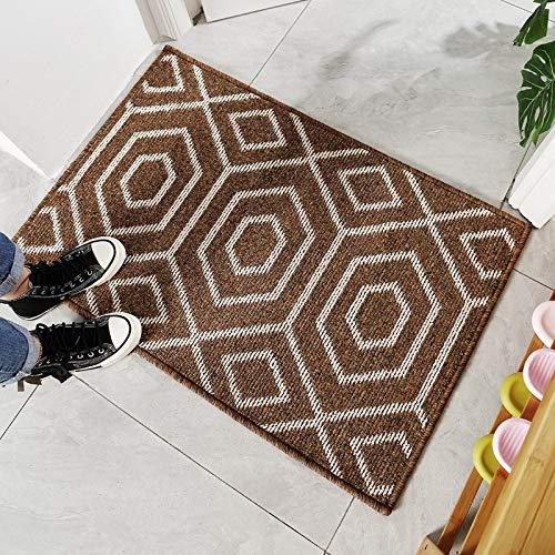 llv Estera geométrica vendedora Caliente del Piso del Polipropileno para la Entrada de la Puerta 80x120cm TimeCorridor-Brown
