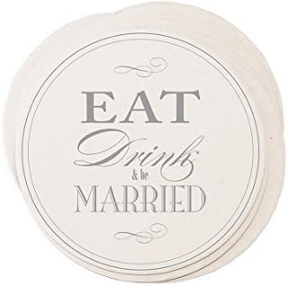 Best eat drink and be married paper coasters Reviews