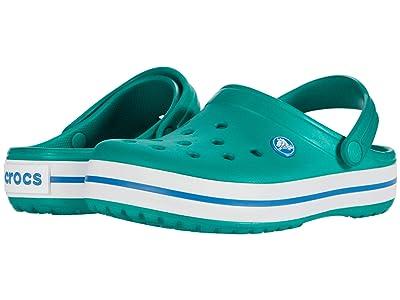 Crocs Kids Crocband Clog (Toddler/Little Kid) (Deep Green/Prep Blue) Kids Shoes