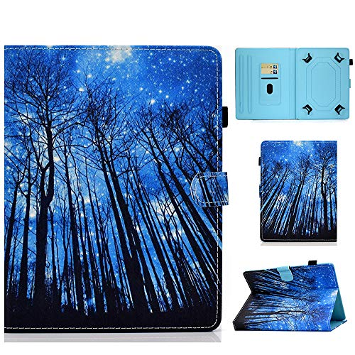 Universal Case for 9-10.1 Inch Tablet Stand Cover Protective Shell for Fire HD 10 Huawei MediaPad T3/T5 10 Fusion5 10.1' iPad 10.2 2019 Galaxy Tab A 10.1/Tab E 9.6 Lenovo Tab 3 (Forest)