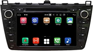 (Black) Android 10.0 OS Car GPS Navigation Compatible with Mazda 6(2008-2012), 4GB RAM+64GB ROM, 8 Inch Touchscreen DVD Pl...