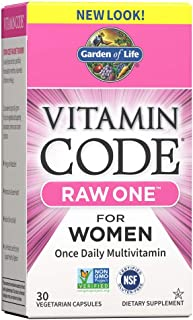 Garden of Life Multivitamin for Women, Vitamin Code Raw One for Women, Once Daily Women's Multi - 30 Capsules, One a Day V...