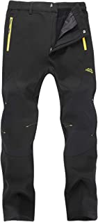 KAISIKE Women's Outdoor Windproof Fleece Lined Hiking Pants Waterproof Snow Ski Pants(W-0105)