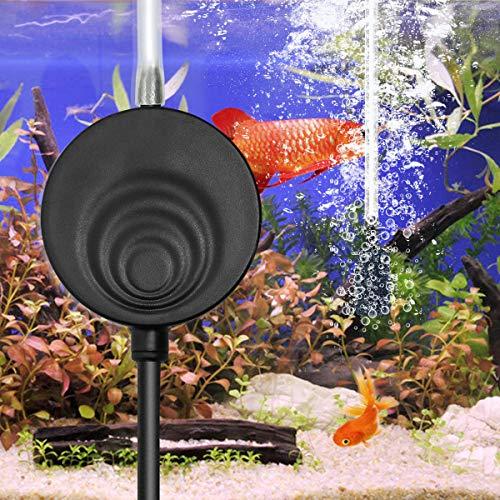 ELETEK Superleise Superminiluftpumpe mit elektromagnetische Welle, die Luftpumpe für das Aquarium, Sauerstoff-Pumpe 50 Liter (Schwarz)