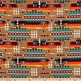 Windham Fabrics Baum Winterfleece Mountain Pass Tan Fabric, Multi