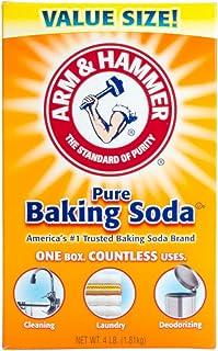 Baking Soda, 4 lb, Odorless, Box, PK6