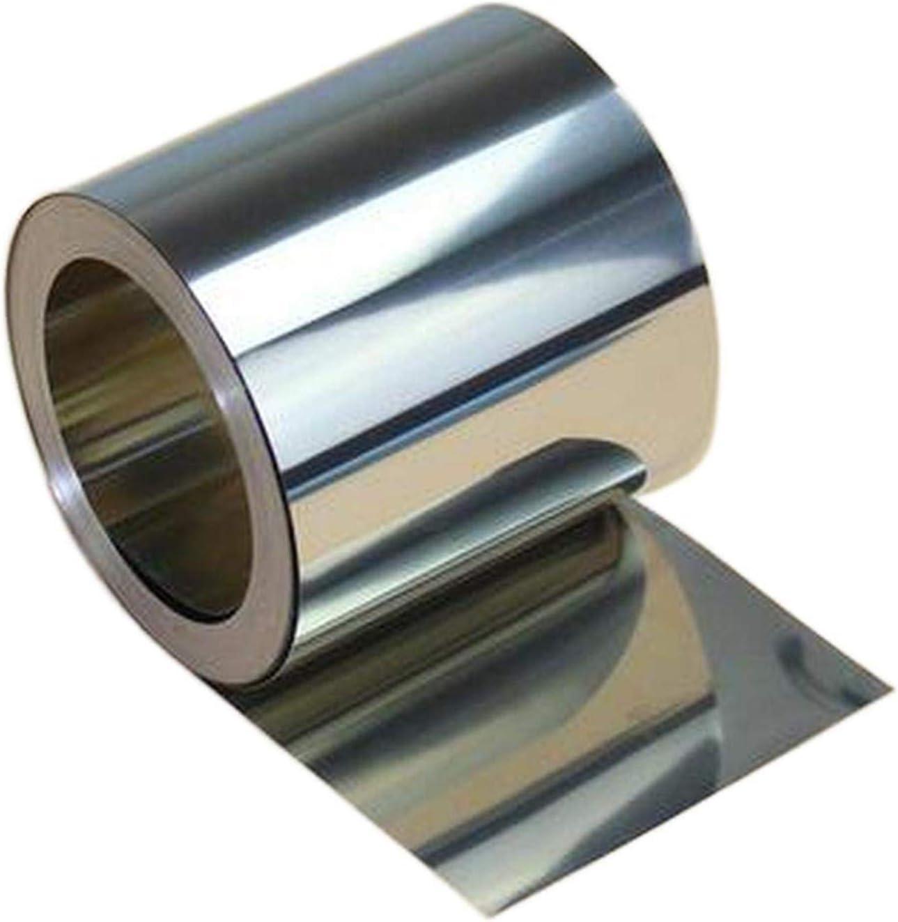 304 láminas de Acero Inoxidable Rollo Tiras Tiras Copas de Hojas de Placa Fina Chapa de metalería sin Mangas de Acero Inoxidable Piel,0.3mm x 10mm x 1m