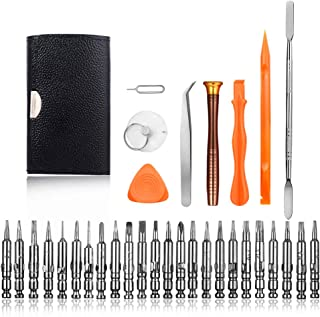 25 in 1 Professional Screwdriver Set, Precision Magnetic Screwdriver, YourFun Repair Tool Kits with Leather Bag for iPhone, Eyeglasses, Tablets, PC, Electronics