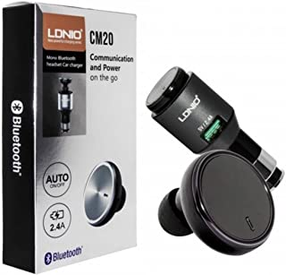 Ldnio CM20 Intelligent 2in1 Mono Bluetooth Headset Earphone and USB Car Charger