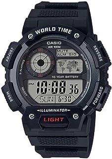 ساعة كاسيو جي شوك بسوار مطاط للرجال، AE-1400WH-1AVDF