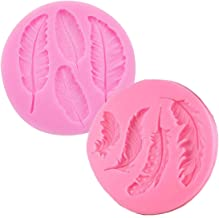 Silicone Mold Feather For fimo resin polymer clay fon moulds chocolate cake W3R4