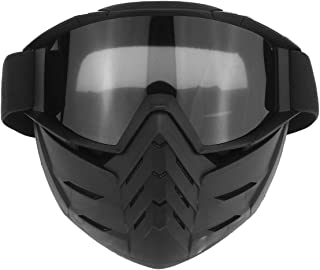 1Pcs Motorcycle Face Mask Goggles PC Lens Riding Scooter Detachable Modular Open Face Goggle for Helmets