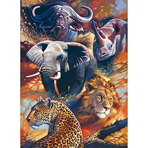 Yingxin34 Rompecabezas de 2000 Piezas para Adultos Rompecabezas de Animales africanos Rompecabezas de 2000 Piezas para Adultos 100x70cm