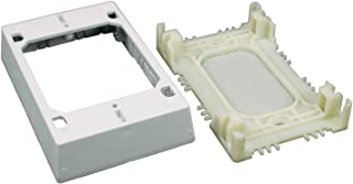 Legrand - Wiremold NMW2 Single Gang Plastic Switch/Outlet Box, White