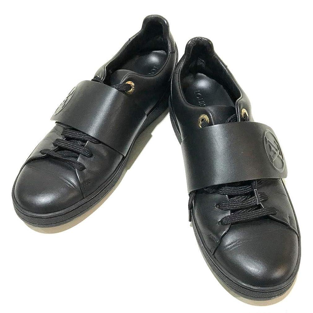 ビルマモチーフ娘(ルイ?ヴィトン)LOUIS VUITTON LV サークルロゴ スニーカー 靴 スニーカー レザー レディース 中古